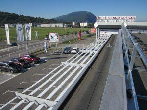 VERTICs Absturzsicherungen : selbsttragende Geländer, Seilsicherungssystem BATILIGNE, Steigleitern, Fallschutzgitter
